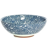 Japonés Azul Viñas Gran 825 Sopa O Servir Tazón De Fideos Ra