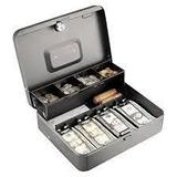 Cash Box Pequeña Caja De Dinero Segura