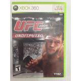 Ufc Undisputed 2009 Xbox 360