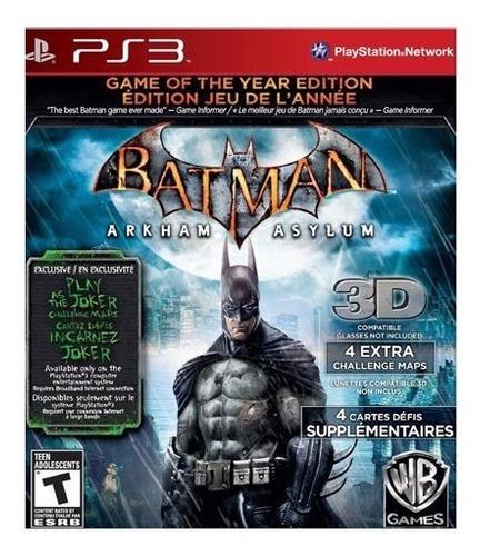 Batman Arkham Asylum Juego Para Playstation 3 Ps3