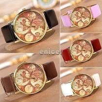 Reloj De Mujer Color Marrón