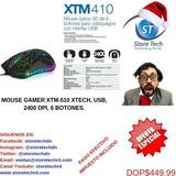 Mouse Gamer Xtm-510 Xtech, Usb, 2400 Dpi, 6 Botones.